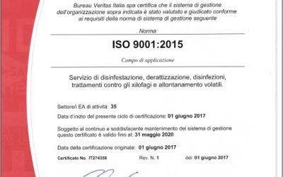 Ottenuta la norma ISO 9001:2015