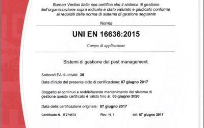 Ottenuta la norma UNI EN 16636:2015